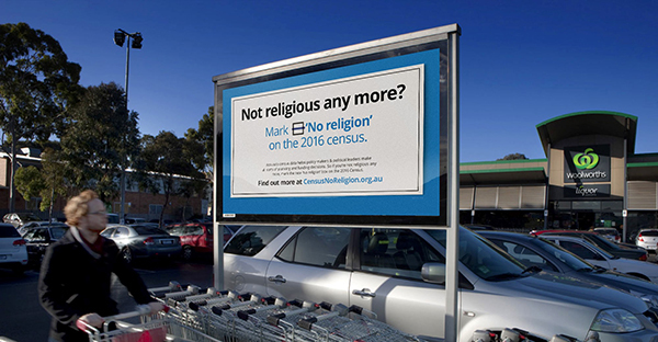 Mark 'No religion' campaign launched in the lead up to