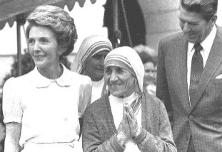Mother Teresa and the Reagans